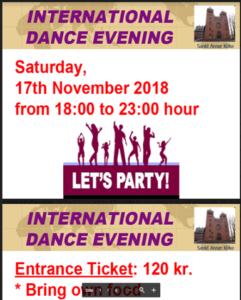 International danseaften
