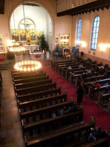 Kirken set fra koret 2019